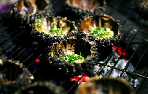 hải sản cù lao xanh nhum nướng